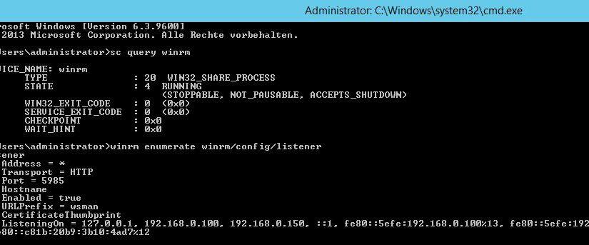 über WinRM die Firewall mit Powershell remote deaktivieren