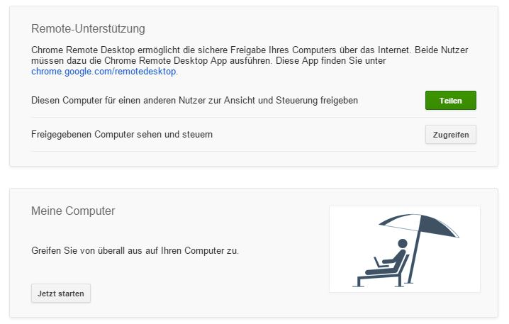 gratis Fernwartungs-Tool mit Chrome Remote Desktop