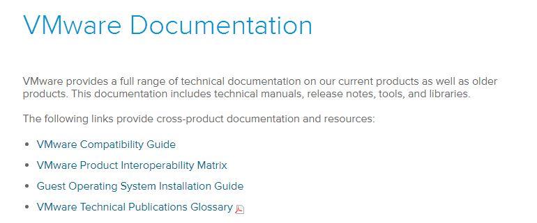 VMware technische Dokumentation